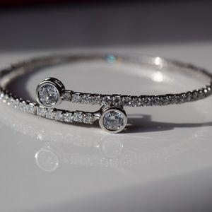 Silver Overlapping Bracelet